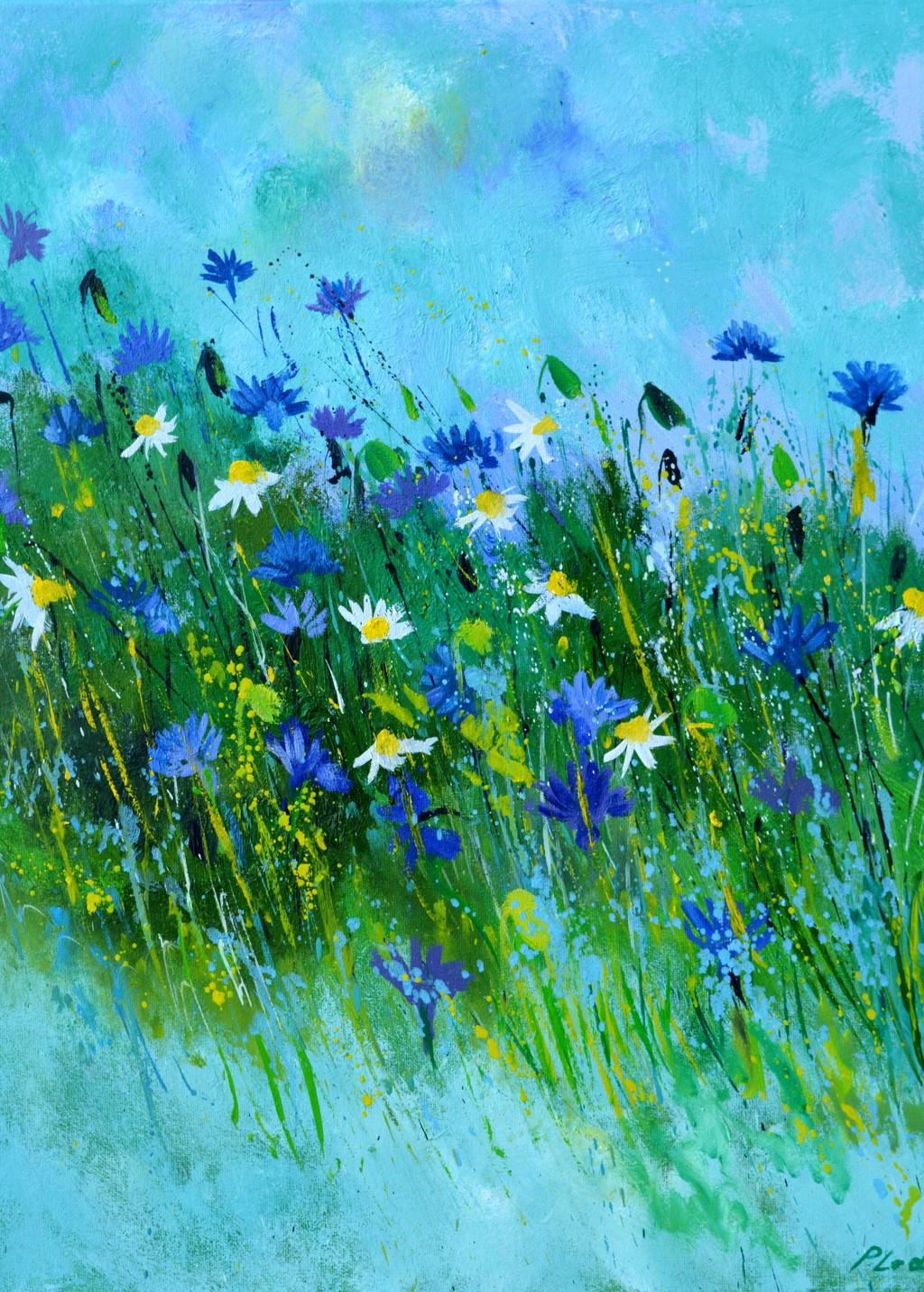 Picture of Blue flowers