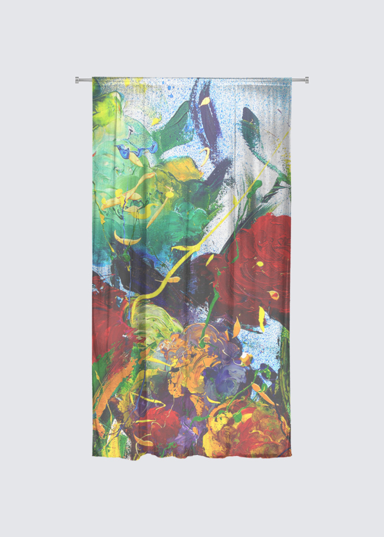 Picture of Mazzo Rideau Flora in Knit Chiffon