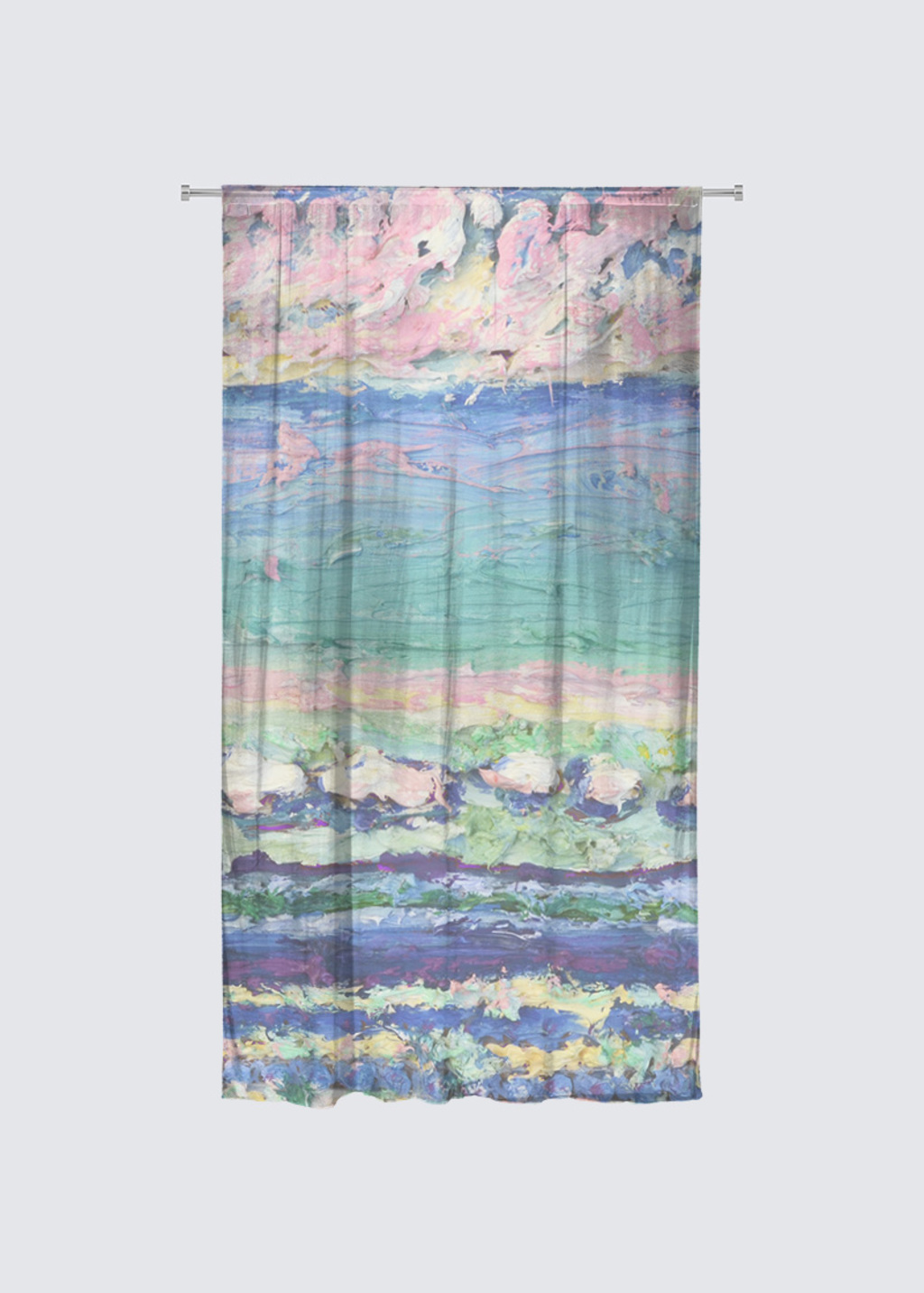 Picture of Cloud Stripes Rideau Flora in Knit Chiffon