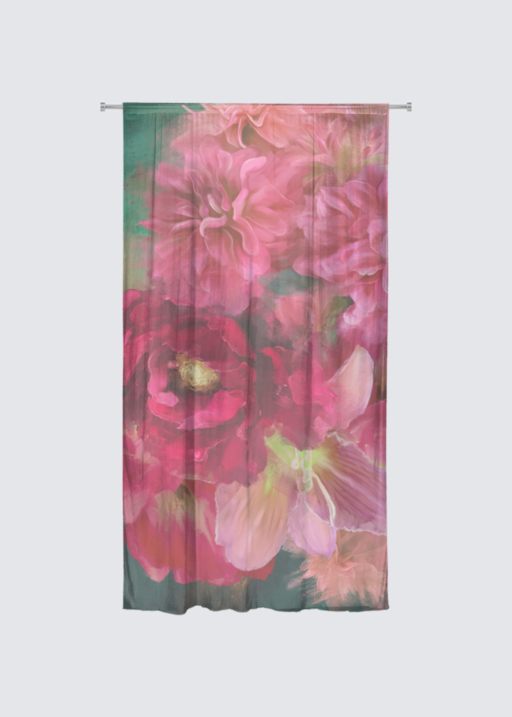 Picture of Blushing Rideau Flora in Knit Chiffon