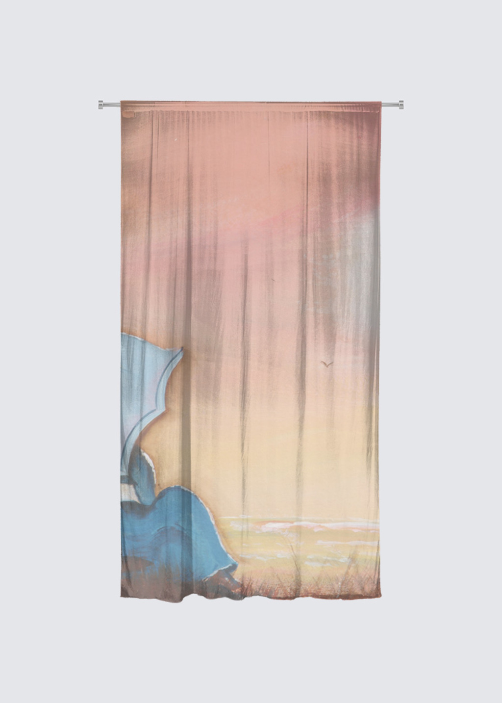 Picture of Silvery Moon Chiffon Curtain