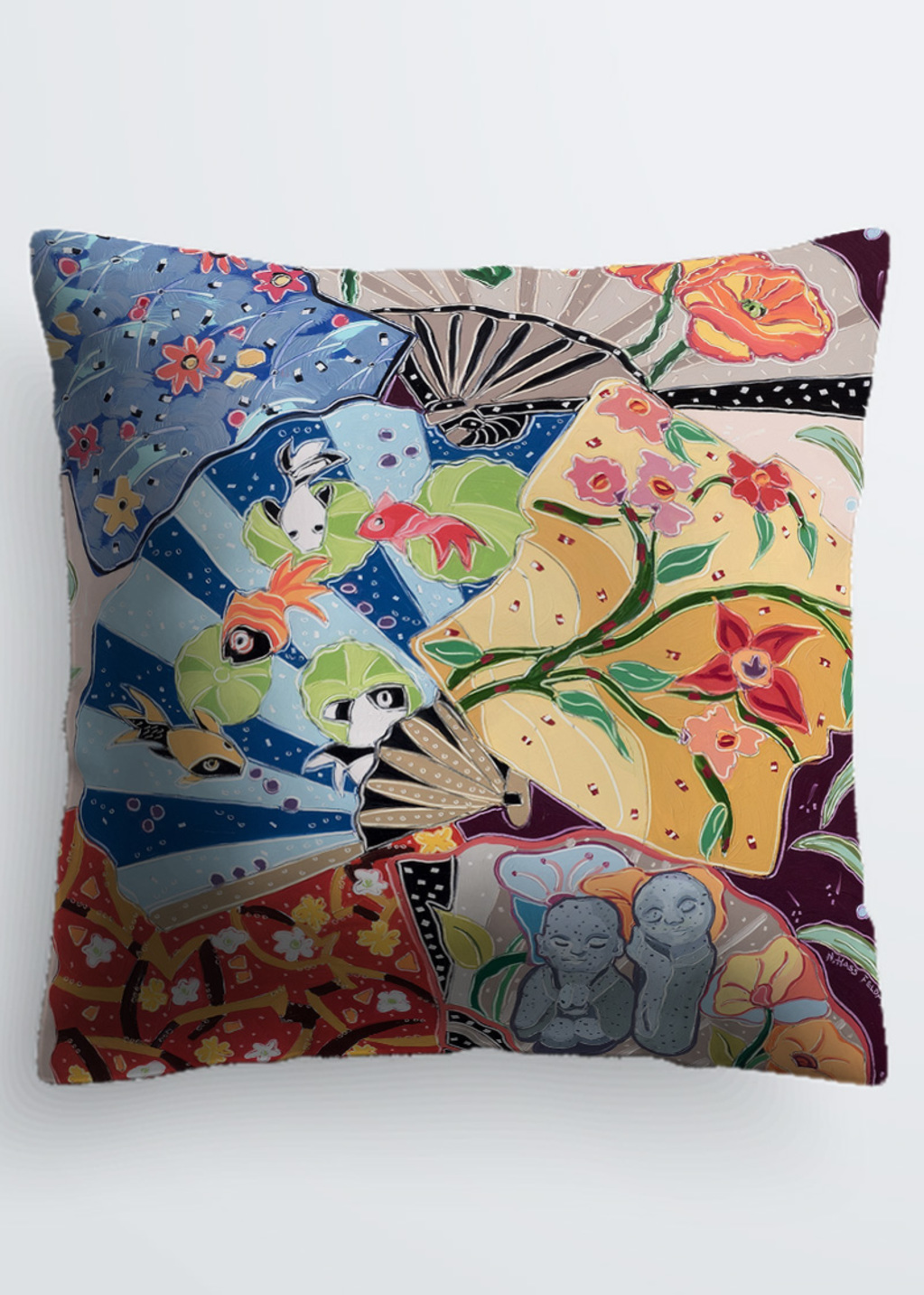 Picture of Little Buddhas Dream of the Floating World Pablo Pillow