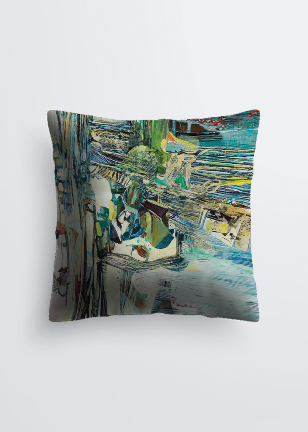 Picture of Crushing Lines Pablo Pillow in Scuba knit