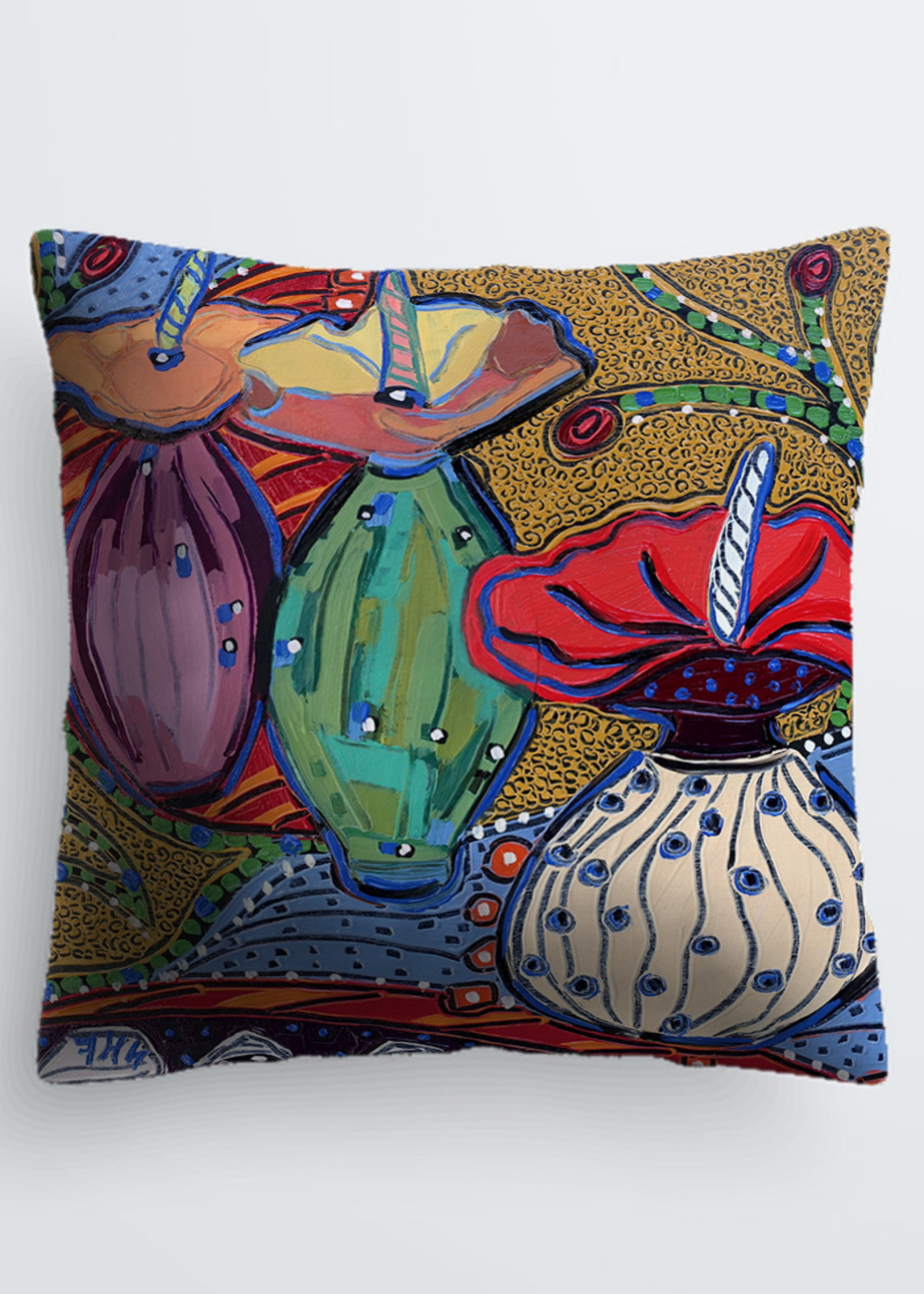 Picture of Vessels in Dreamtime 14 Pablo Pillow in Scuba knit
