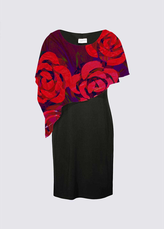 Picture of LES ROSES Joni Cape Dress
