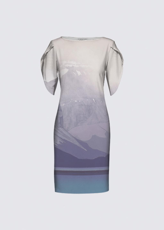 Picture of Storm, Maligne Lake Michelle Dress II
