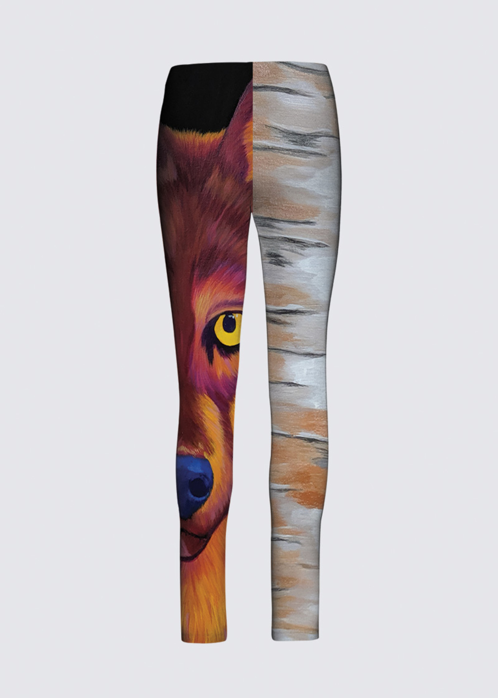 Picture of All Seeing Wolf Jackie Leggings in Scuba Knit