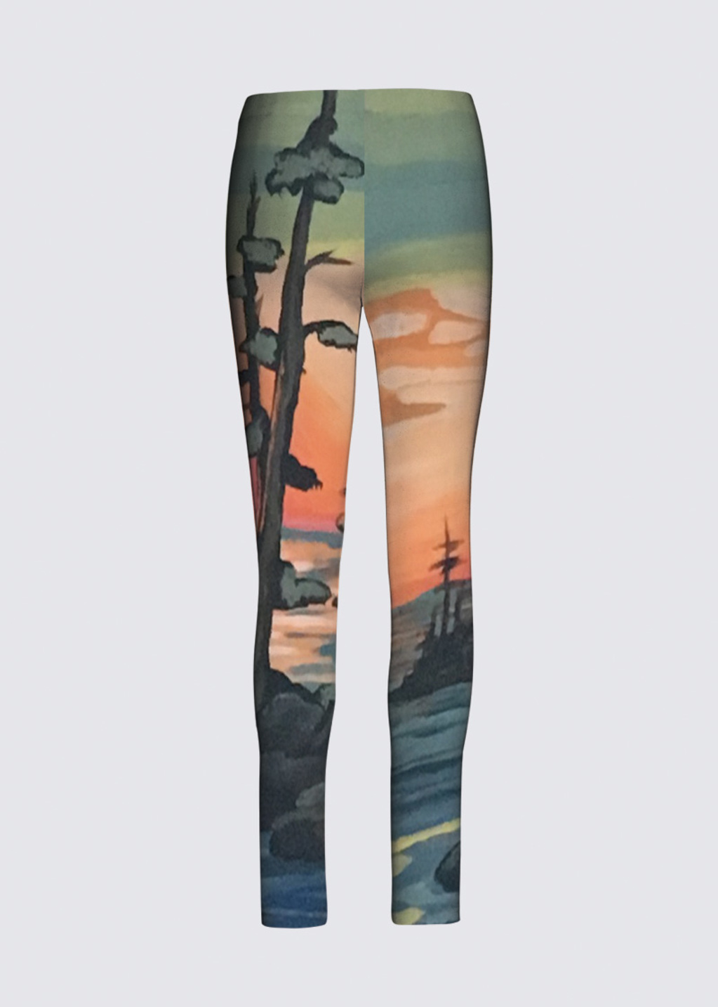 Picture of West coast sunset Jackie Leggings in Scuba Knit