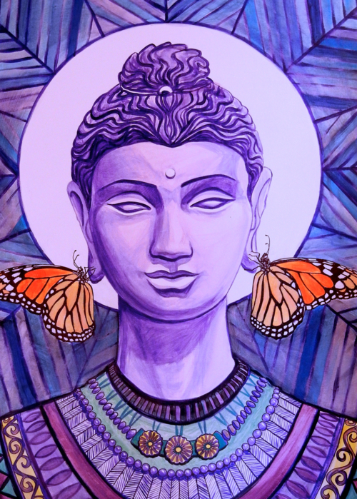 Picture of Purple Monarch Buddha