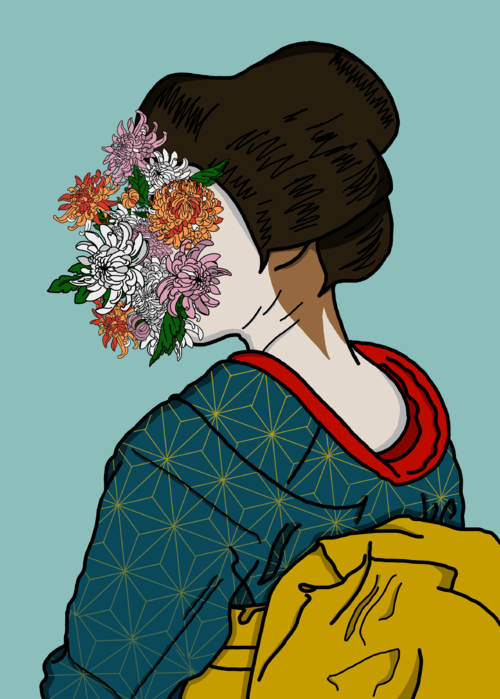 Picture of Chrysanthemums of a Geisha