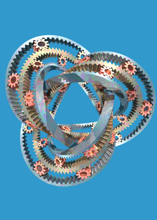Picture of Trefoil Moebius Gears
