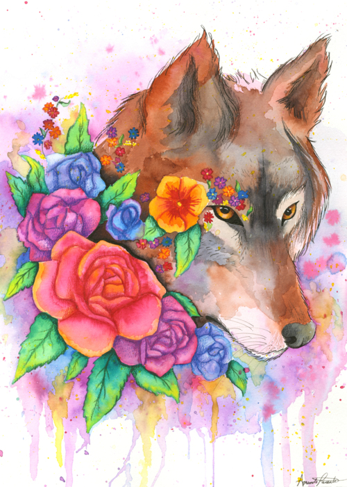 Picture of Rainbow Wolf