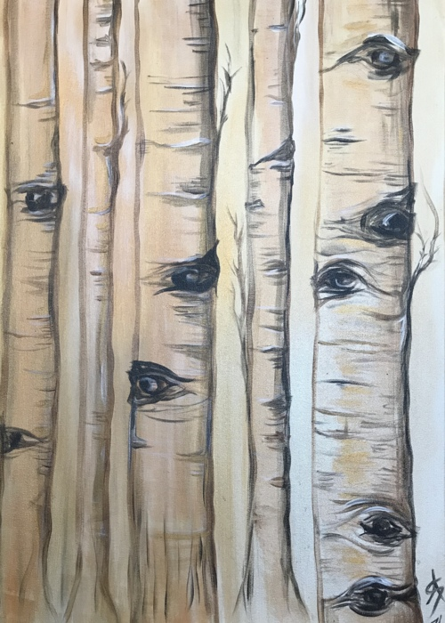 Picture of Birch Trees Watching