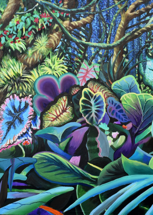 Picture of Flowering Jungle Triptych