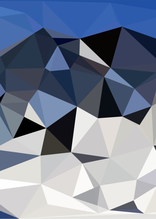 Picture of Abstract Snowy Landscape Low Poly Geometric
