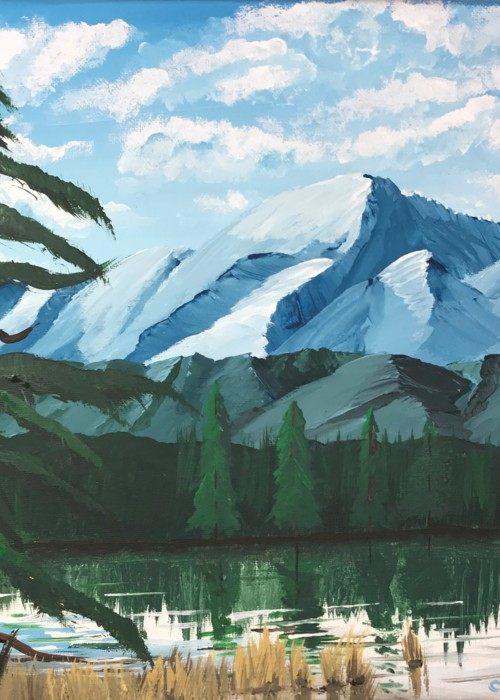 Picture of Tranquil Mountain Scene