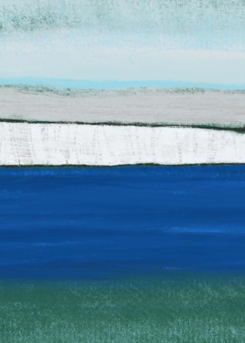 Picture of Dover Cliffs, Digital Pastels