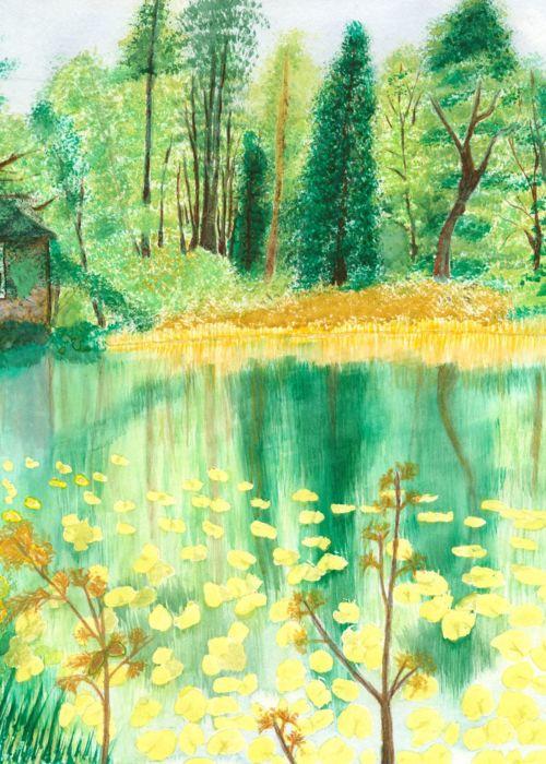 Picture of Wallington Hall Pond, Northumberland