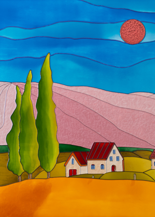 Picture of Red Tuscany Moon