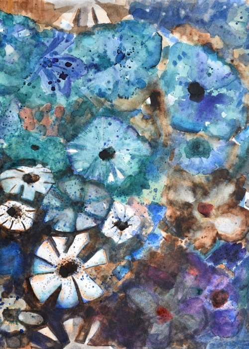 Picture of Blue Green Floral
