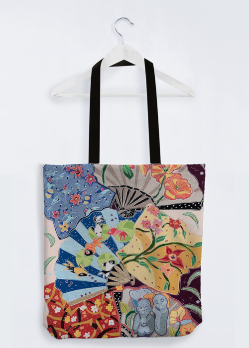 Picture of Little Buddhas Dream of the Floating World PP Reuben's Tote