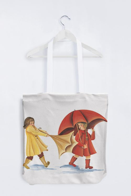 Picture of Slicker Tote Bag, White handles
