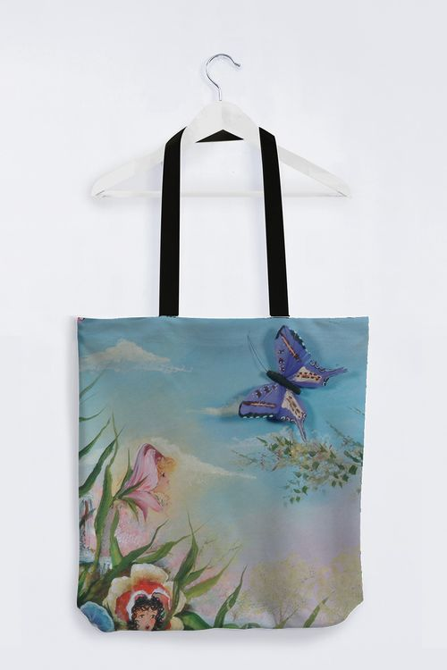 Picture of Butterfly Totebag, black handles