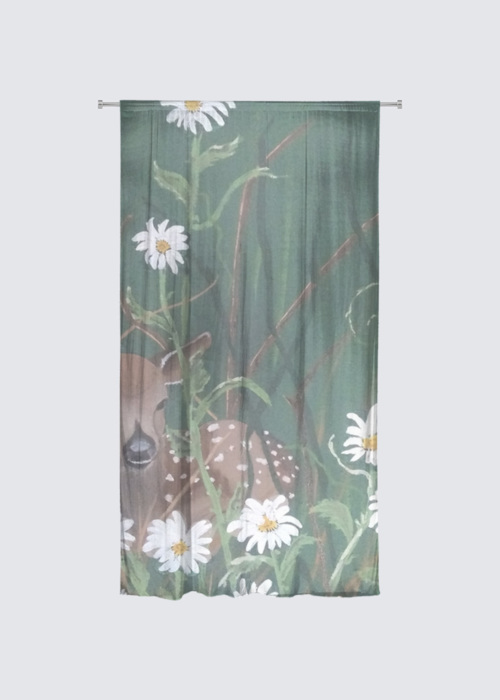 Picture of Fawn in the daisies Rideau Flora in Knit Chiffon