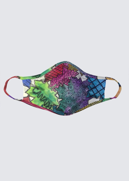 Picture of zen tangle maple leaves Reusable Face Mask (pack of 2)
