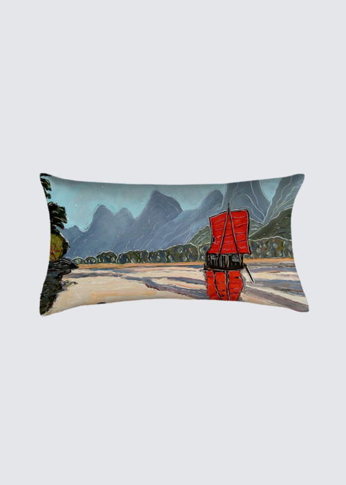 Picture of The Red Sail Coussin Bastien
