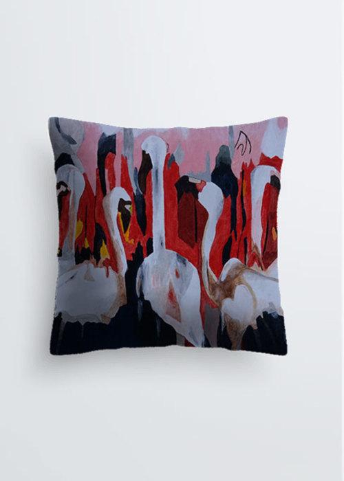 Picture of Flamingos in kenya Pablo Pillow