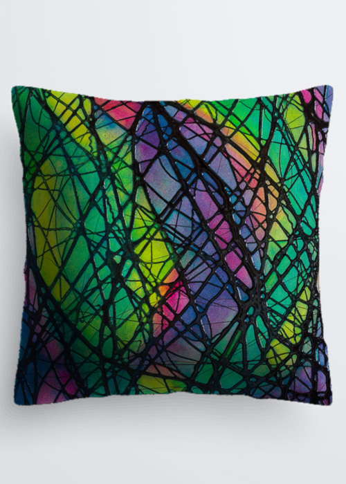 Picture of Northern Lights Pablo Pillow in Scuba knit