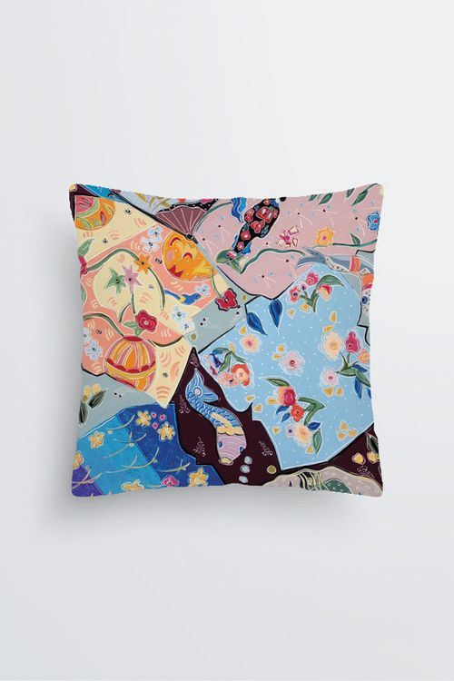 Picture of Lost in the Dream of the Floating World Pablo Pillow in Scuba knit