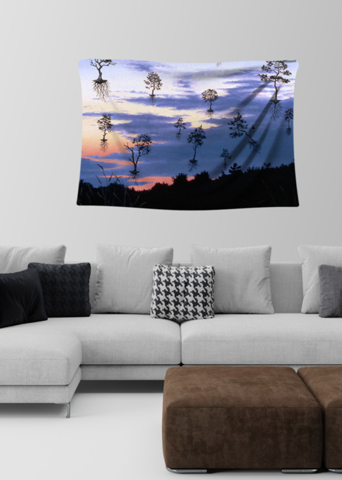 Picture of Leaving Dennis at Dusk Amelie Small Wall Tapestry
