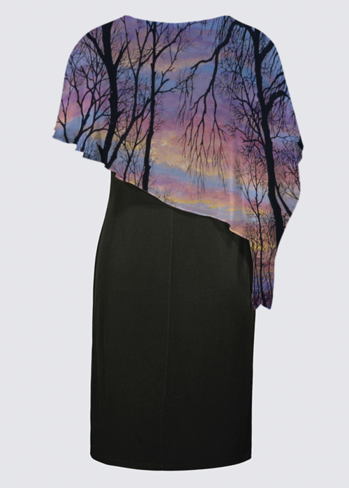 Picture of Last Look Back Joni Cape Dress