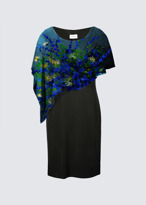 Picture of Still Life 675130iv Joni Cape Dress