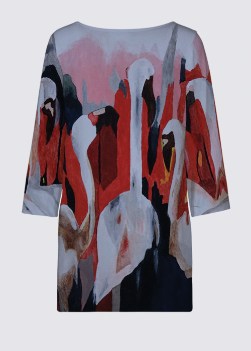 Picture of Flamingos in kenya Patti Tunic