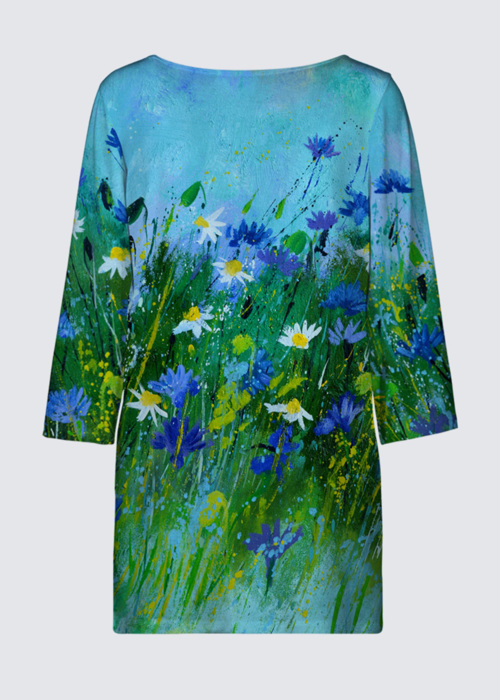 Picture of Blue flowers Patti Tunic