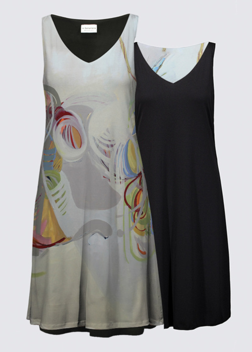 Picture of Behind the Shadow Kate Reversible Dress