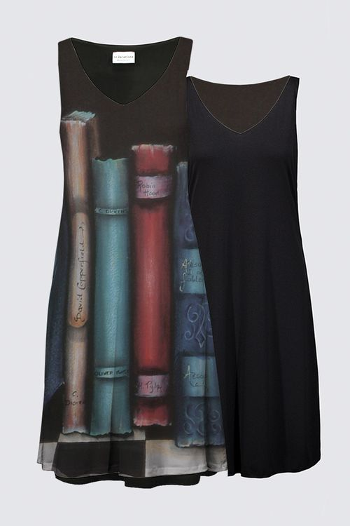 Picture of the Bookends Reversible Dress ; full