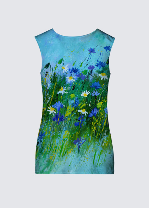 Picture of Blue flowers Marlene Top