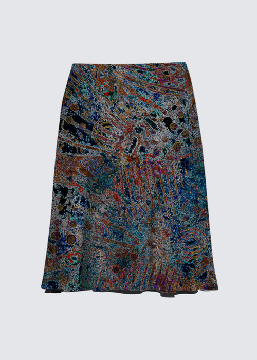 Picture of Atlantis on Fire Alex Skirt