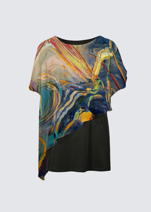 Picture of Sunset on the Pond Yoko Cape Tunic